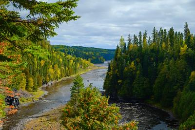 Kaministiquia River, located beside the village of Kakabeka Falls