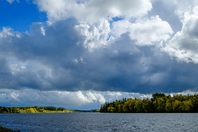The Rainy River looking east (upstream) from Emo