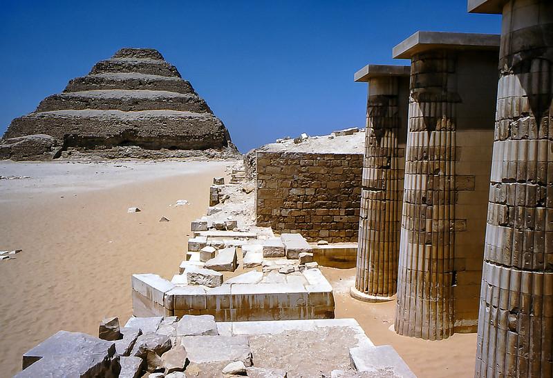 Pyramid temple at Sakkara, Egypt, 1979