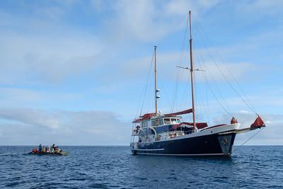 The Samba, off Punta Cormorant, Floreana Island