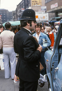 Bobby in London, England, 1977