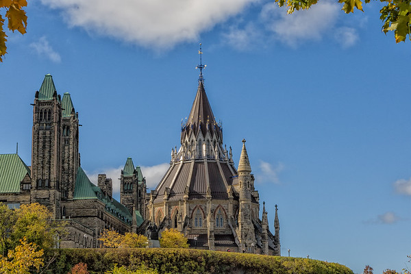 Library of Parliament in Fall