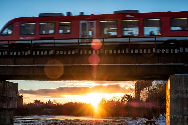 O Train at sunset
