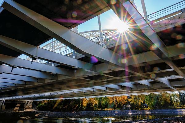 Sunburst through Vimy Bridge