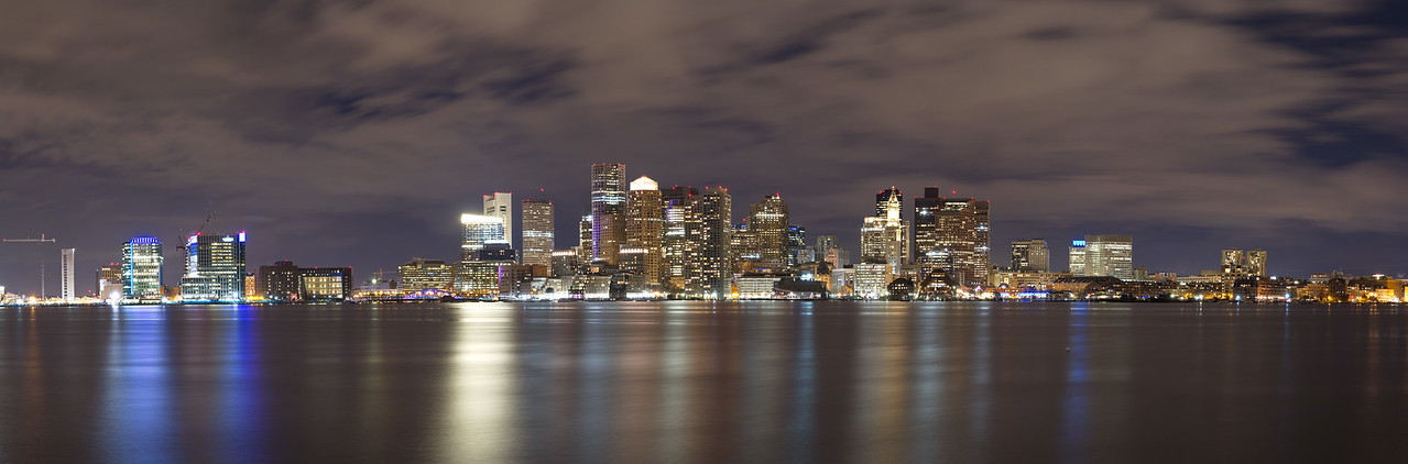 Boston Skyline After the Rain