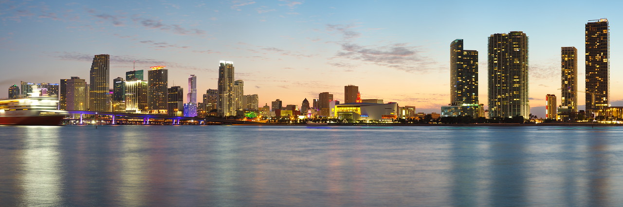 Miami Skyline at Twilight