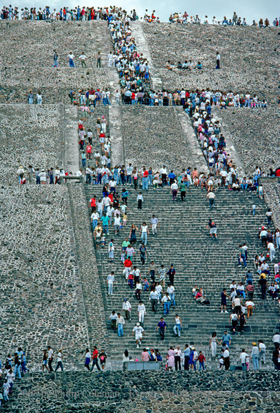 Climbing Teotihuacan