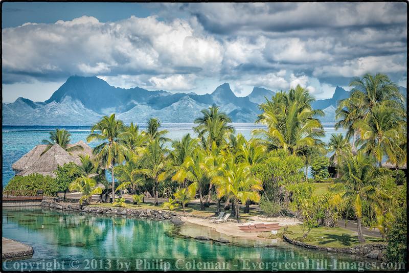 View of Tahiti and Moorea