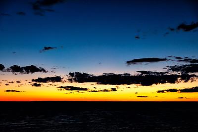 Blue light after sunset