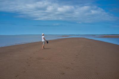 Walking the sand bars