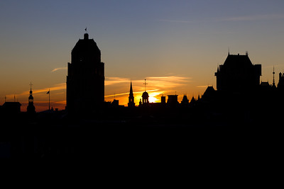 Quebec City skyline at dawn