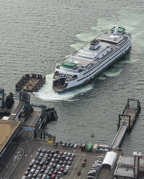 Ferry to Bainbridge Island from Columbia Center