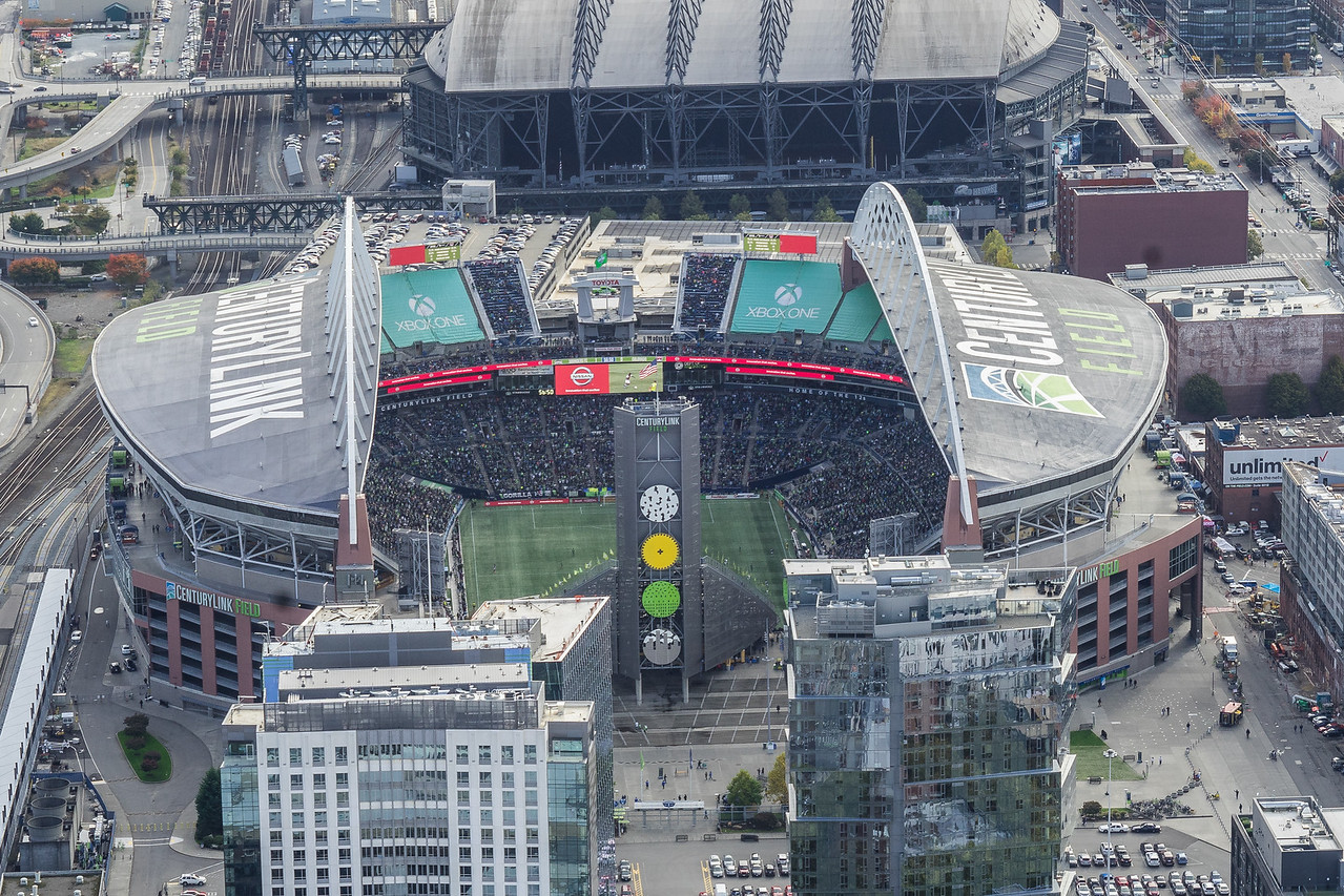 CentruyLink Field from Columbia Center Observatory
