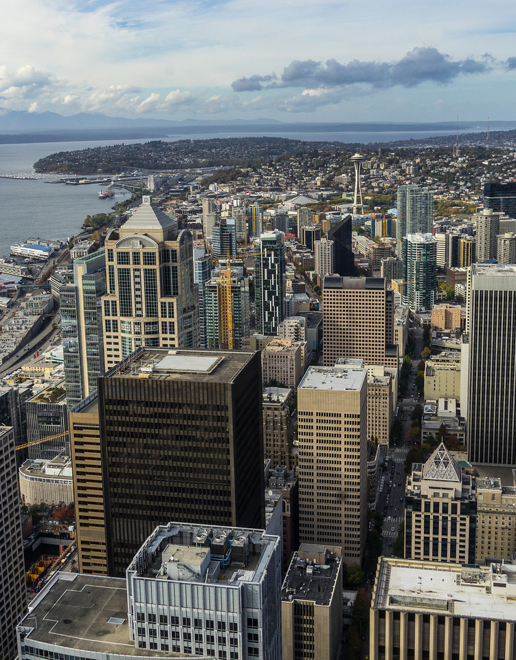 Seattle from Columbia Center Sky View observatory