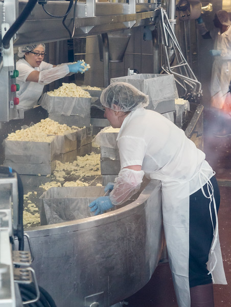 Cheese curd production at Beecher's