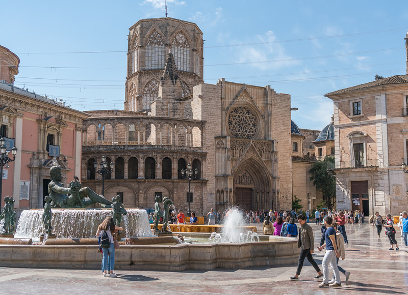 Valencia, Cathedral with Miguelette bell tower