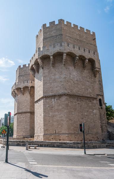 Valencia, Torres de Serranos, one of 12 gates of city walls