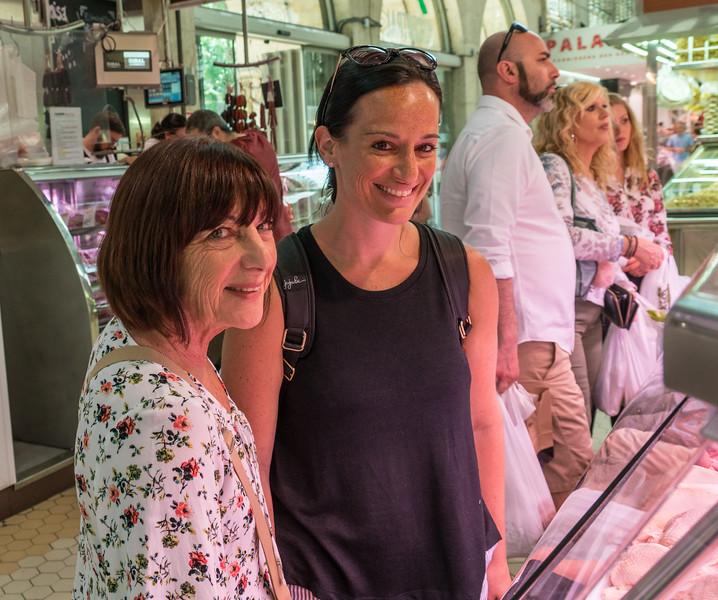 Valencia, shoppers in El Mercat