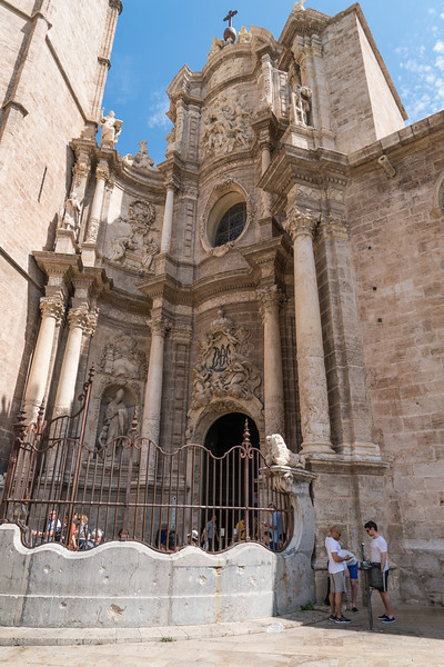 Valencia, Entrance to Cathedral from Plaza de la Reina