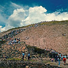 Climbing the Pyramid of the Sun, Teotihuacan, Mexico