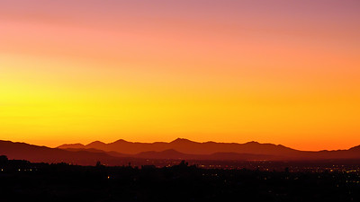 Sunrise over Tucson