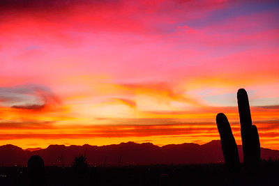 Sunset over Tucson