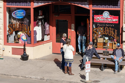 Smoke break outside Paul & Jerry's Saloon in Jerome