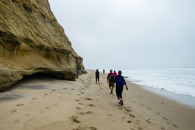 Hiking at Torrey Pines and trying to finish the coastal component before the tide gets too high!