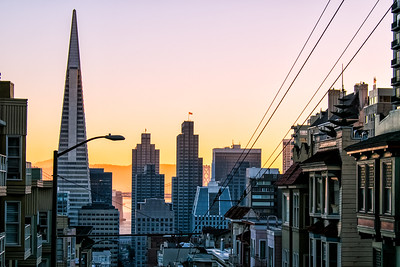 Waking up in San Francisco Clay St. SF looking east at dawn