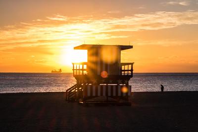 Miami Beach at sunrise