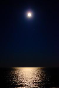 Full moon over Virginia Beach