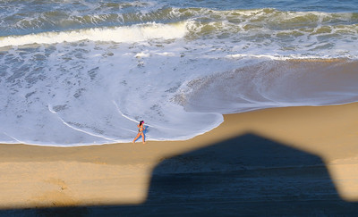 Out for a run on Virginia Beach