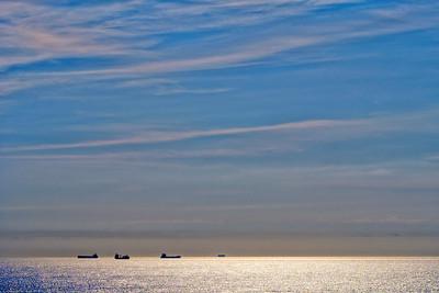 Steady ship traffic off Virginia Beach