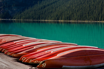 Canoes Lake Louise Canada