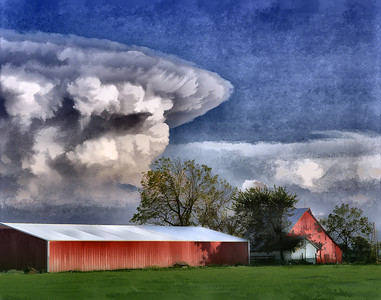 Anvil Cloud Eastern Kansas Photo: Tom Jenkins