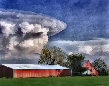 Anvil Cloud Eastern Kansas Photo: Tom Jenkins