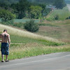 A photo shoot for teen challenge included he forlorn fellow walking shirtless down the highway