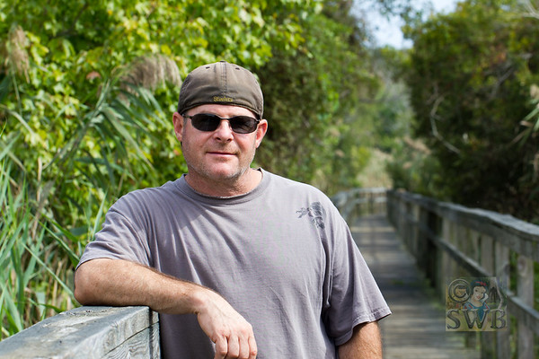 My Babe....Jim....on one of our favorite walkways in Corolla, North Carolina,  Outer Banks