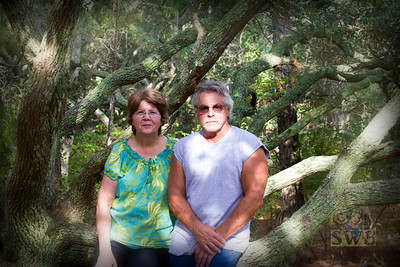 Scott and Martha on the horse trail in Corolla, North Carolina, Outer Banks