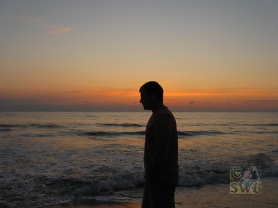 My hubby, and sunset on the ocean...Two of my favorite things!