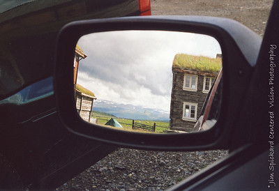 Thatched Roof in Mirror