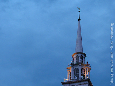 Church Steeple in Blue Dusk