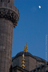 Blue Mosque Minaret with Moo
