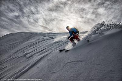 Skier, Mt Baker backcountry, WA