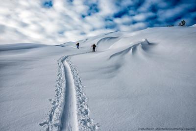 Skiing on the moon, Mt. Baker, WA