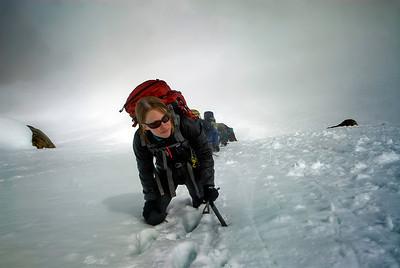 Climbers, high on Silverstar Mtn, North Cascades, WA
