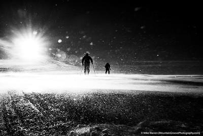 Skiers in blizzard, MRNP