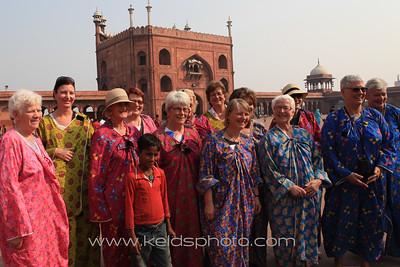 Agra and Delhi