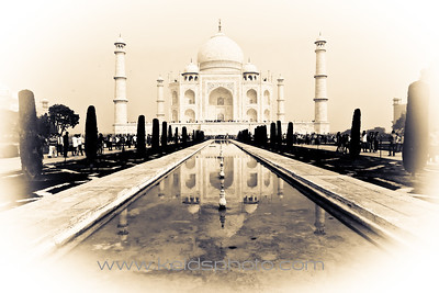 Taj Mahal and Agra fort