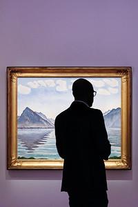 Ferdinand Hodler - Lac de Thoune aux reflets symétriques